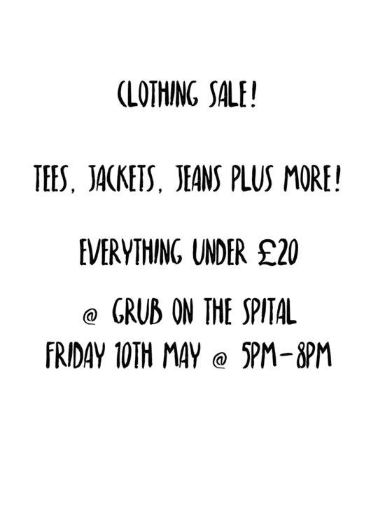 We've got a clothing...